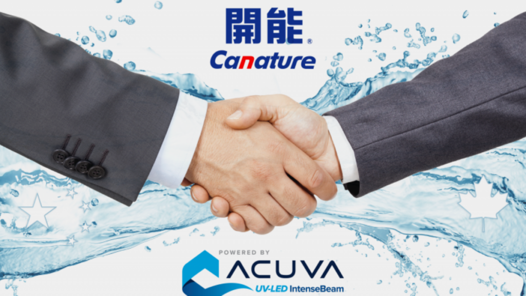 Acuva Technologies partners with Canature for Next Generation UV-LED Water Disinfection Applications